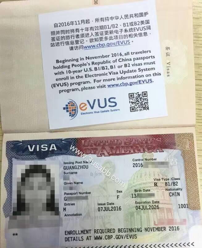 洛杉矶生子客户visa照