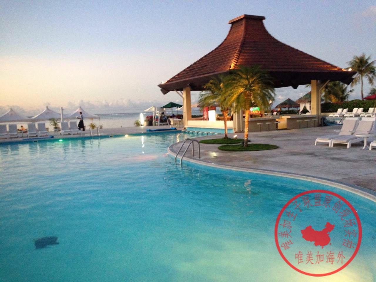 塞班岛生子中心外景露天游泳