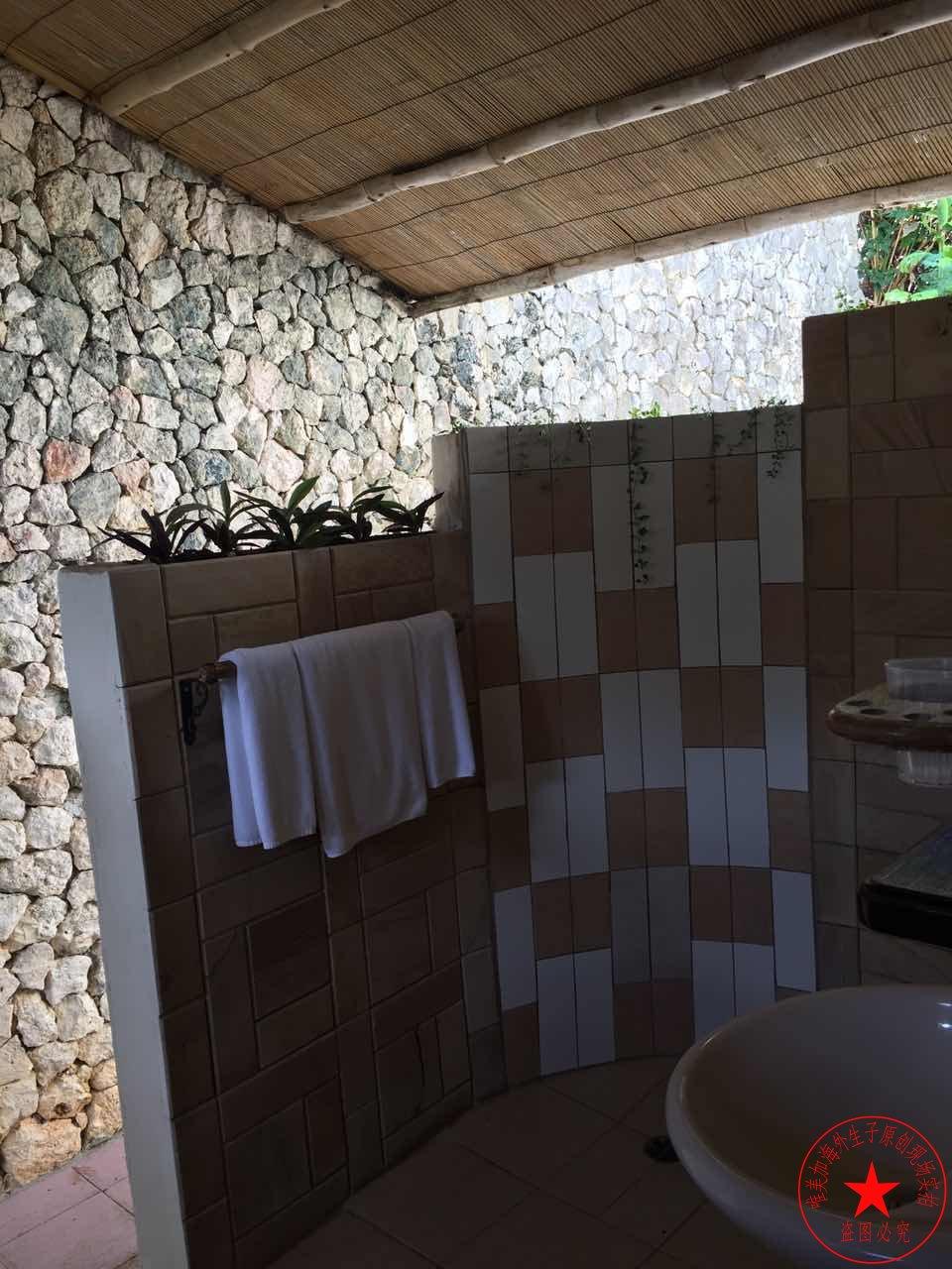 塞班岛生子中心外面浴室图