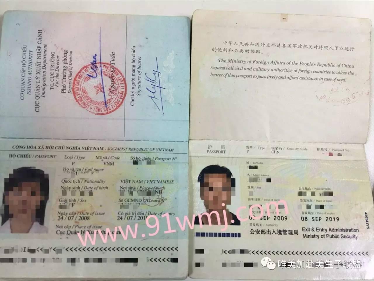 赴美生子护照